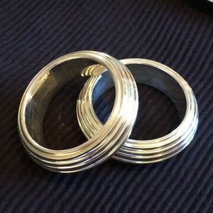 Wax Casted Coated w/ thick layer of Sterling Silver 925 Bangles